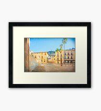 Spanish Plaza Framed Print