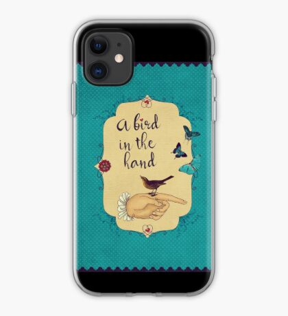A bird in the hand iPhone Case