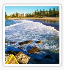 Port Macquarie Lookout over the sea. Sticker
