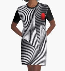 Abstract - Catch the red ball Graphic T-Shirt Dress