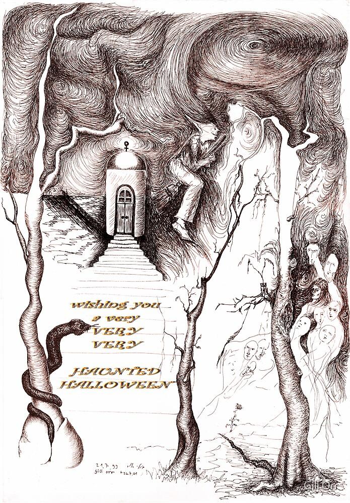 Haunted Halloween card by Gili Orr
