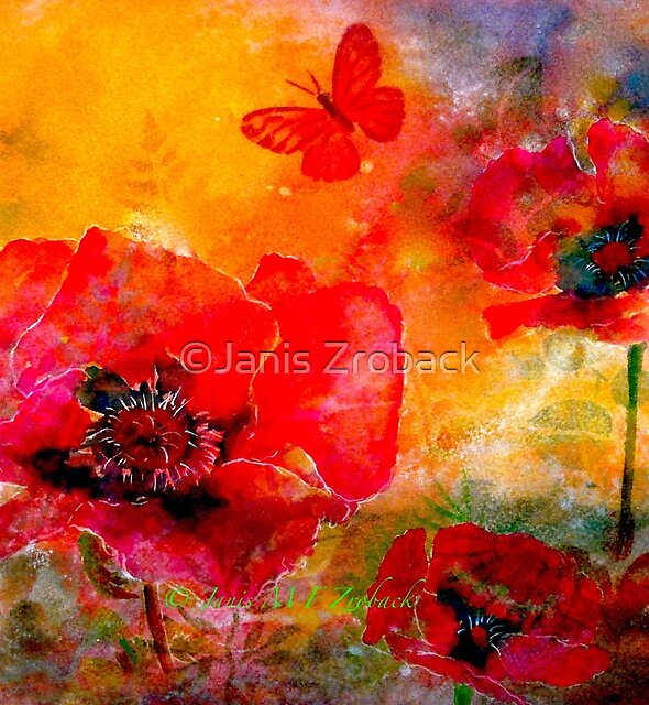Saving The World...Poppies by ©Janis Zroback