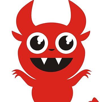 Cute Devil Goes Raaah! by QueenHare