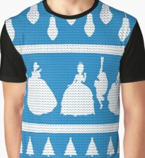 Princesses Christmas Jumper Inspired Silhouette Graphic T-Shirt