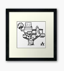 Architecture Building Stack Framed Print
