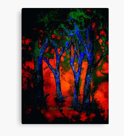 In A Blue Wood Canvas Print