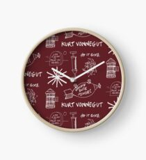 Ode to Vonnegut -- Pattern -- White Clock