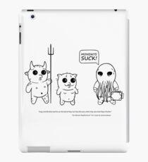 Funny Cartoon comic of Cthulhu, Mr Kitty and Impy iPad Case/Skin