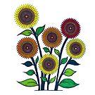 Spirograph Sunflower Seeds by RachelEDesigns