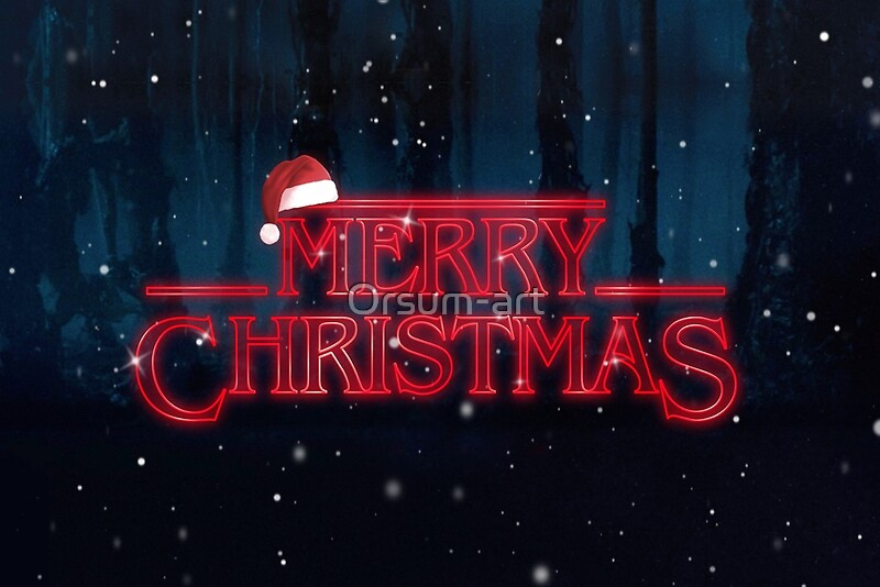 Stranger Things Merry Christmas Greeting Cards By