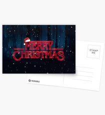 Stranger Things  - Merry Christmas Postcards