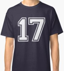 White Number 17 Classic T-Shirt