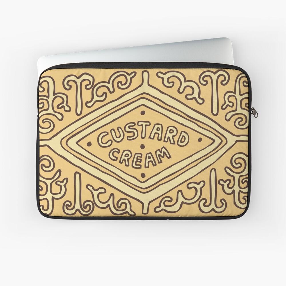 Custard Cream British Biscuit Laptop Sleeve