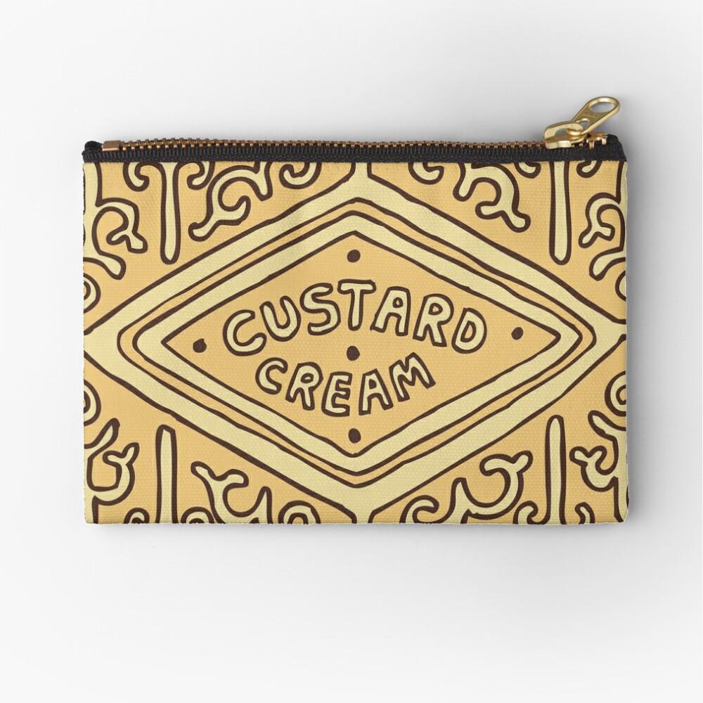 Custard Cream British Biscuit Zipper Pouch