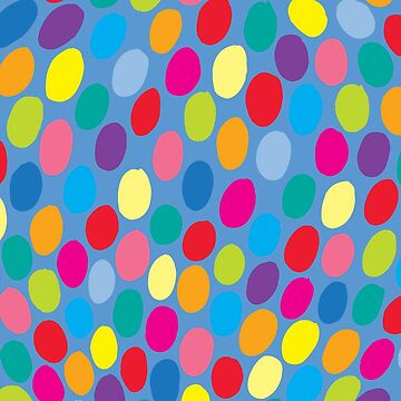 Blaue Farbe Spot-Muster von evannave