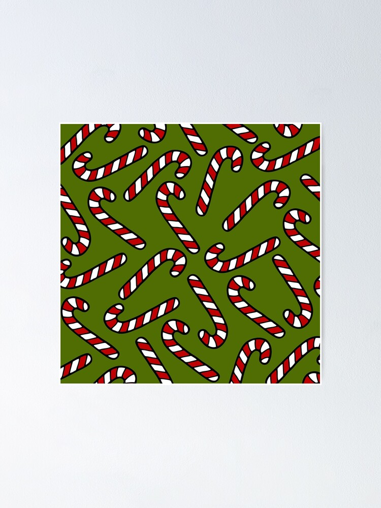Alternate view of Candy Cane Pattern Poster