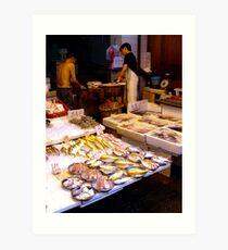 Fish market, Mong Kok, Hong Kong Art Print
