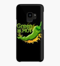 Green is HOT Case/Skin for Samsung Galaxy