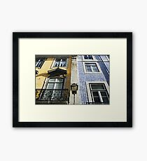 Double facade in Lisbon Framed Print
