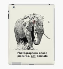 Anti-hunting Elephant Design for Photographers iPad Case/Skin