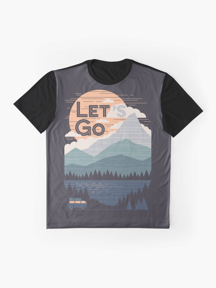 Alternate view of Let's Go Graphic T-Shirt
