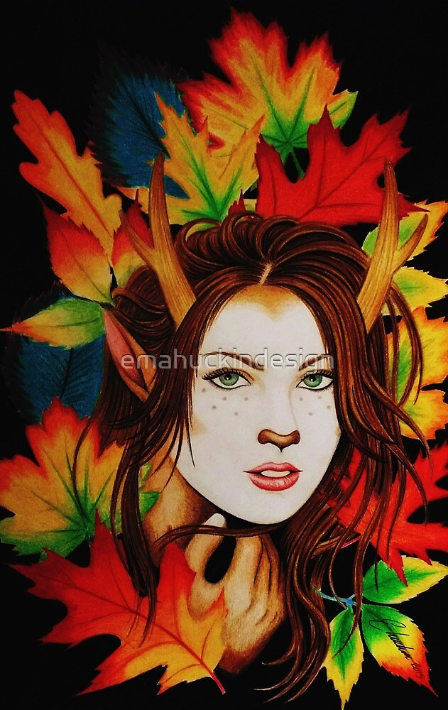 autumn fawn by emahuckindesign