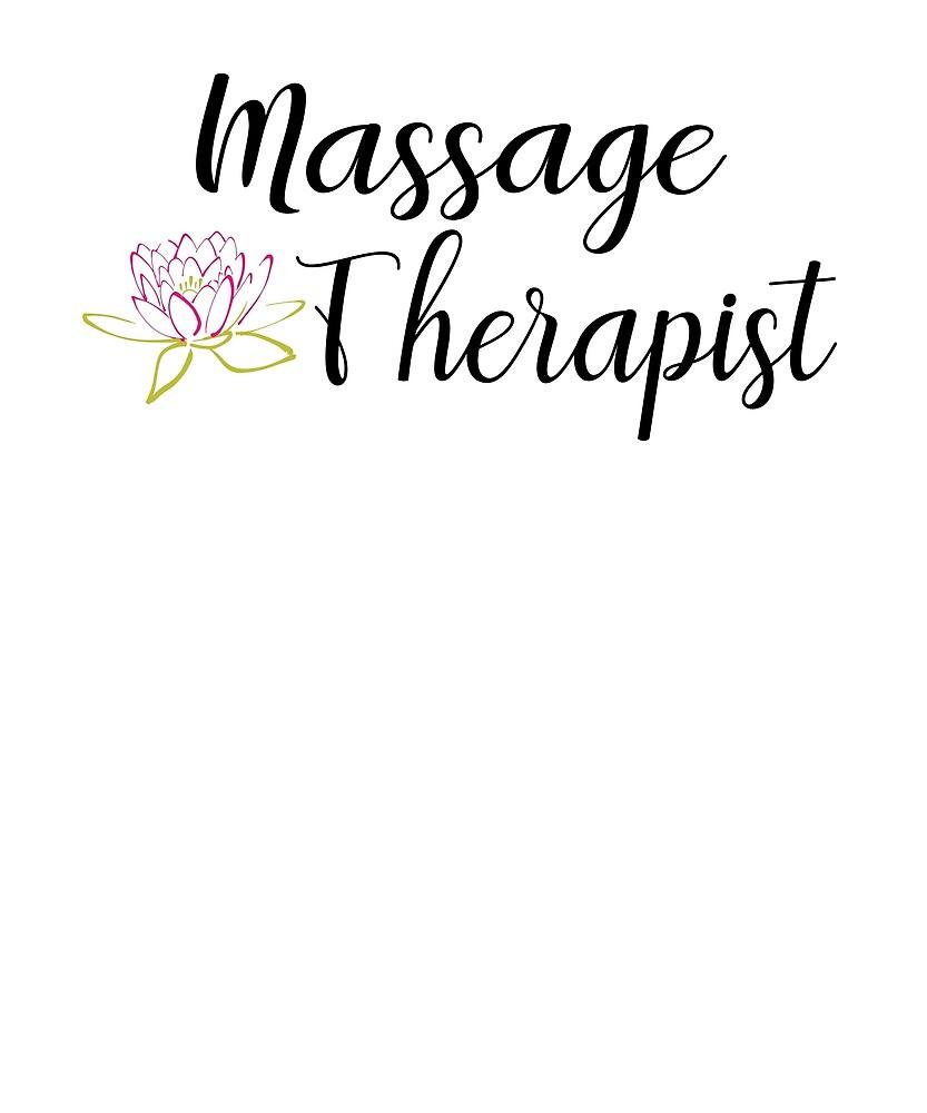 Massage Therapist With Lotus Flower By Jennifer Lynn Redbubble