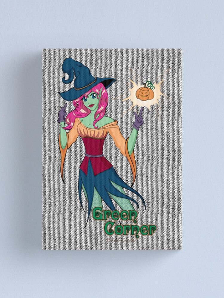 Alternate view of Green Corner Witch Canvas Print