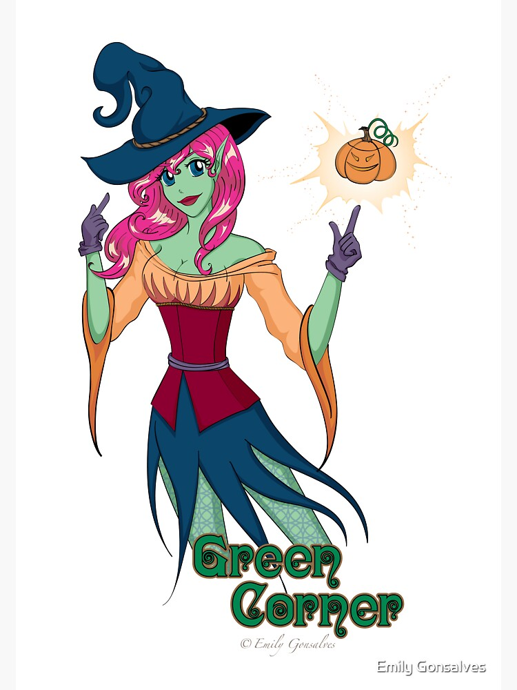 Green Corner Witch by emilygonsalves