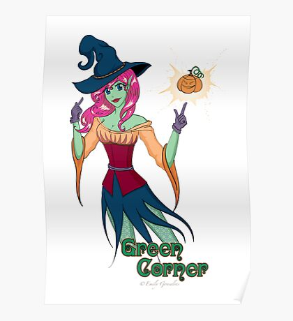 Green Corner Witch Poster
