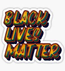 Retro Black Lives Matter Sticker