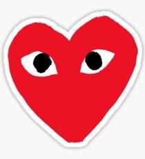 comme des garçons heart Sticker