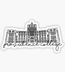 Providence College Harkins Hall Sticker