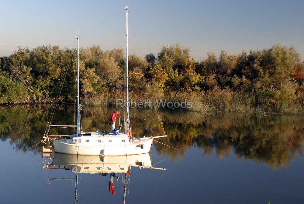 Boat on The Delta by Robert Woods