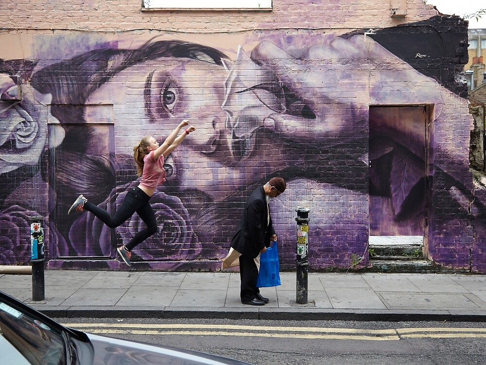 Quot Graffiti Shoreditch London Girl Flying Quot By Rob Irving