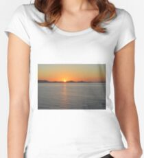 Sunset by the sea Women's Fitted Scoop T-Shirt