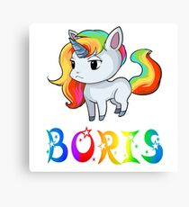 Boris Unicorn Canvas Print