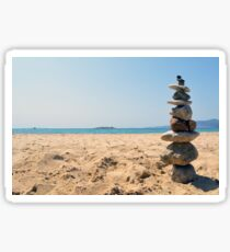 Stack of rocks by the sea  Sticker