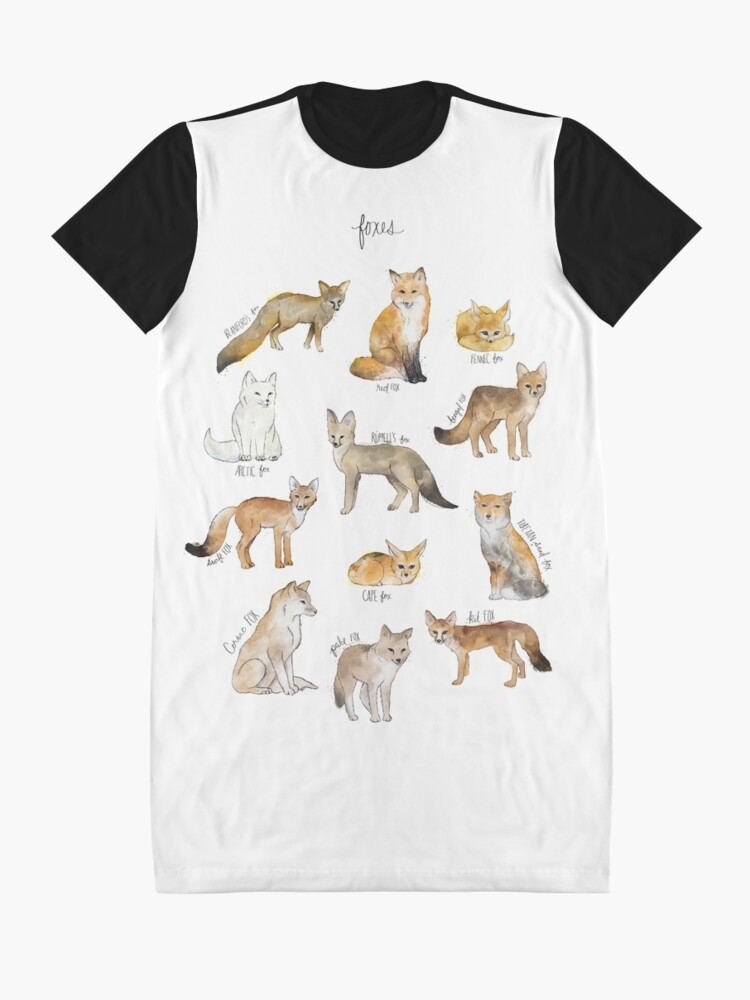 Alternate view of Foxes Graphic T-Shirt Dress