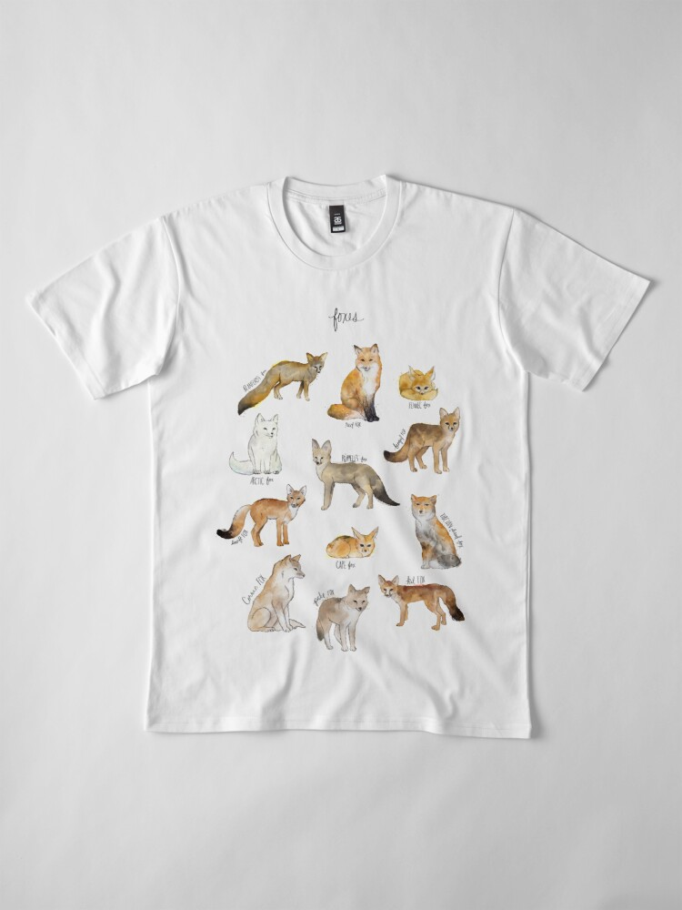 Alternate view of Foxes Premium T-Shirt