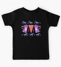 Kittycorn Pizza Rainbows Kids Tee
