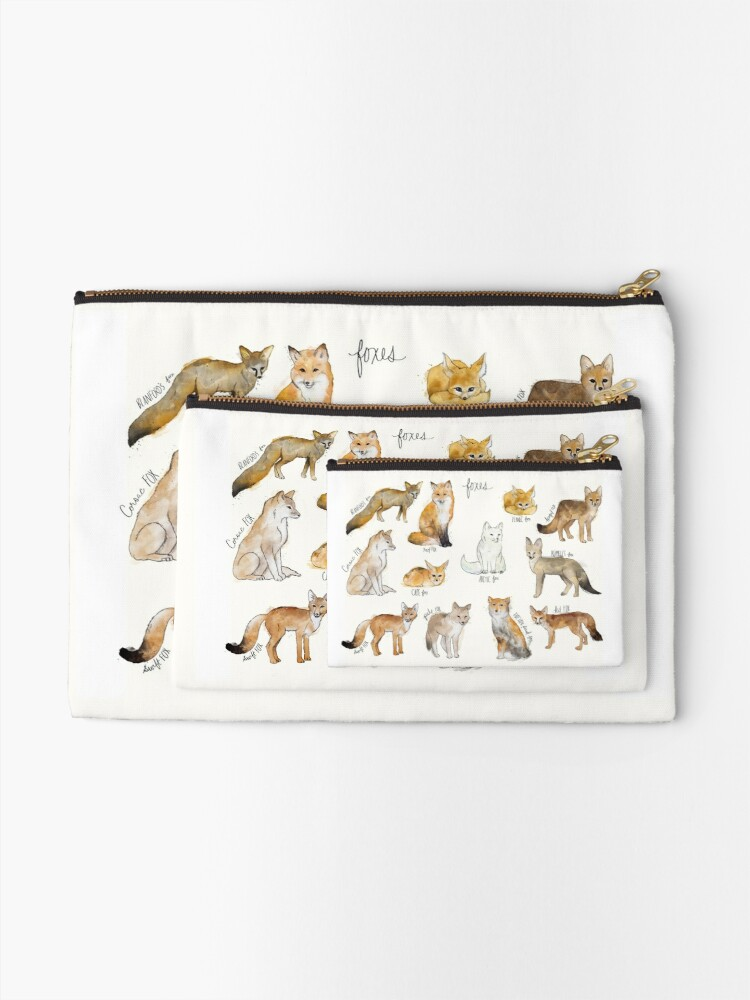Alternate view of Foxes Zipper Pouch
