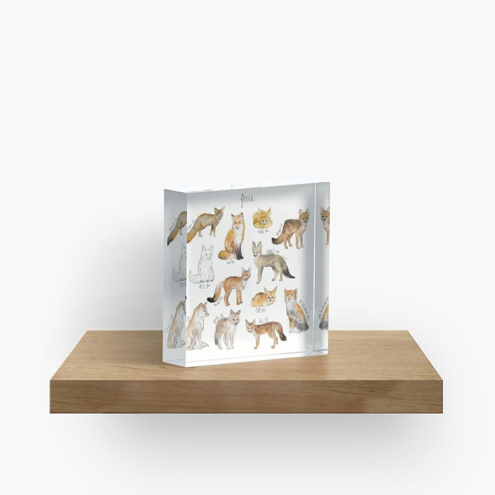 Foxes Acrylic Block