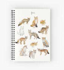 Foxes Spiral Notebook