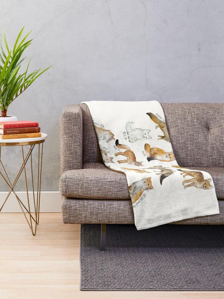 Alternate view of Foxes Throw Blanket
