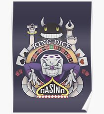 Cuphead King Dice Casino Poster