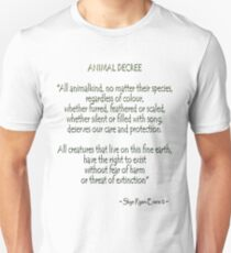 """Animal Decree"" Unisex T-Shirt"