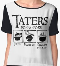 Taters Women's Chiffon Top