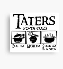 Taters Canvas Print