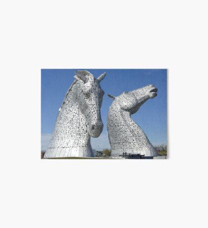 The Kelpies, Helix Park , Falkirk , Scotland Art Board